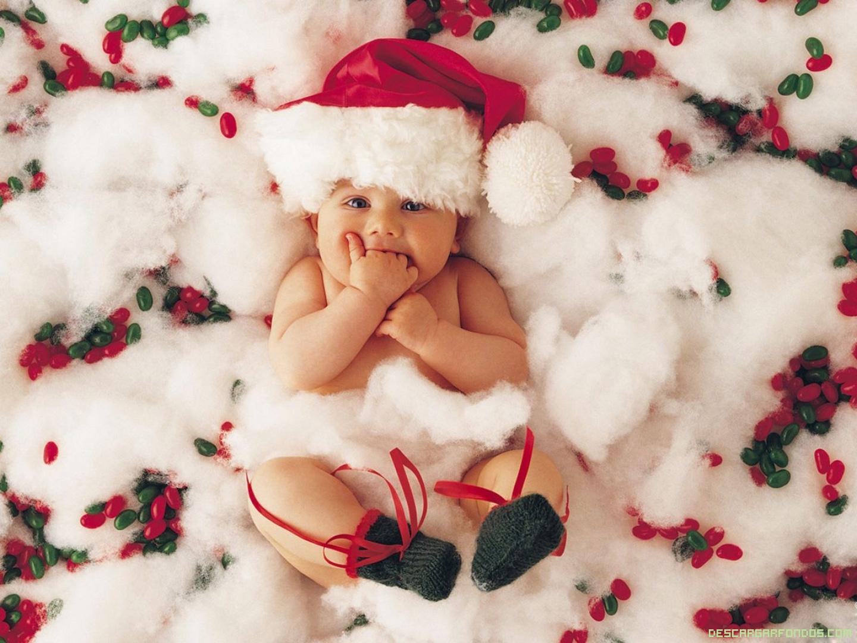 Bebé disfrazado de Santa Claus