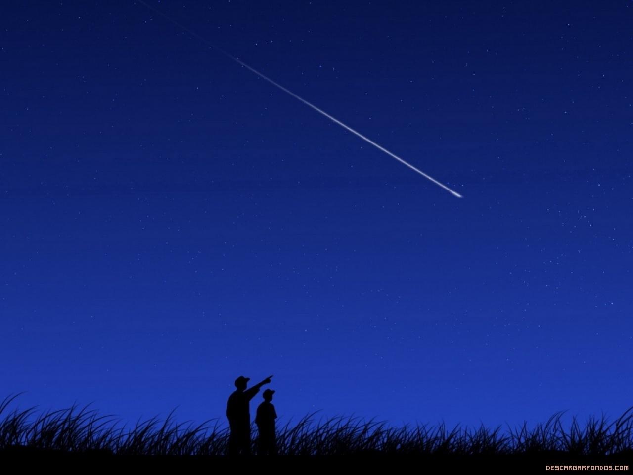 Contemplando una estrella fugaz