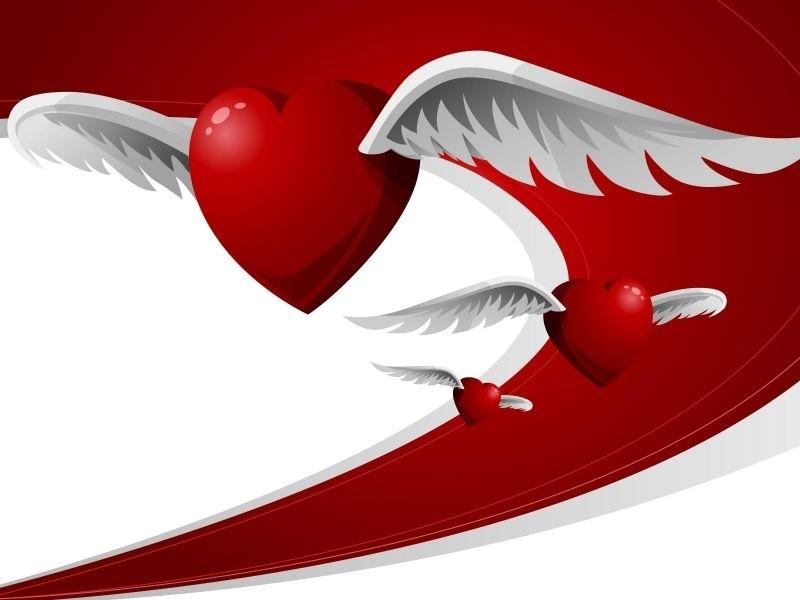 Corazón con alas de ángel