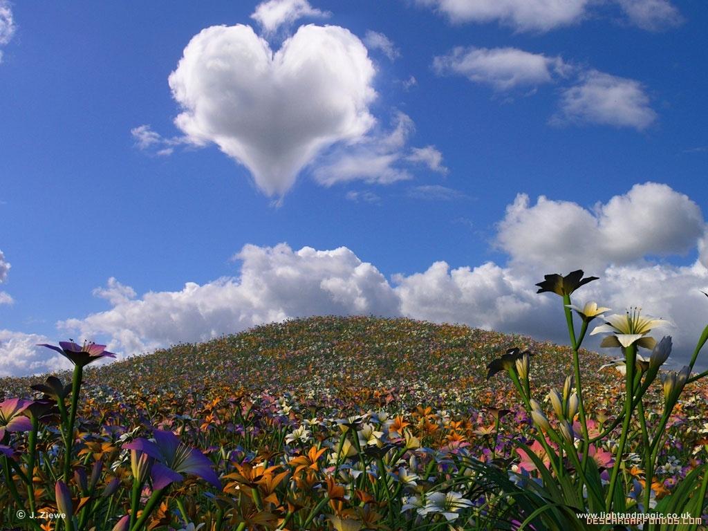 Nube de corazón