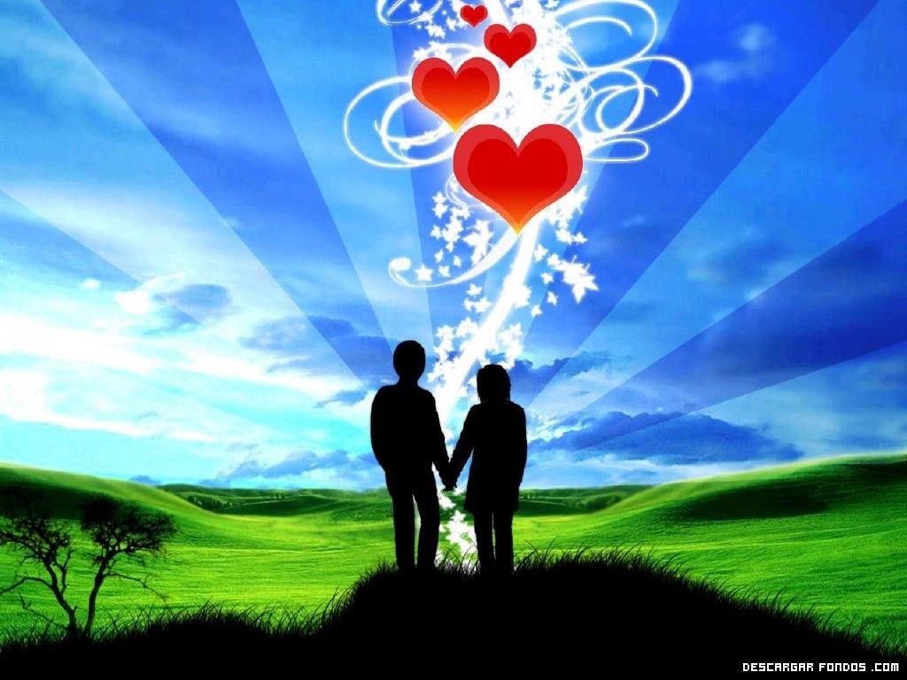 Dos enamorados frente al cielo