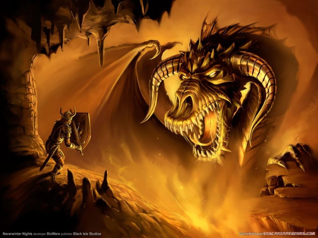 Dragón y guerrero