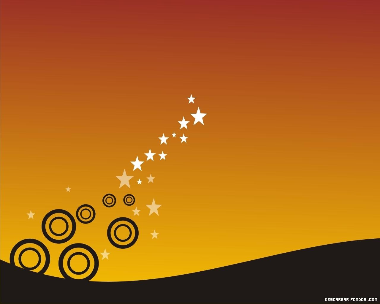 El fondo amarillo con estrellas