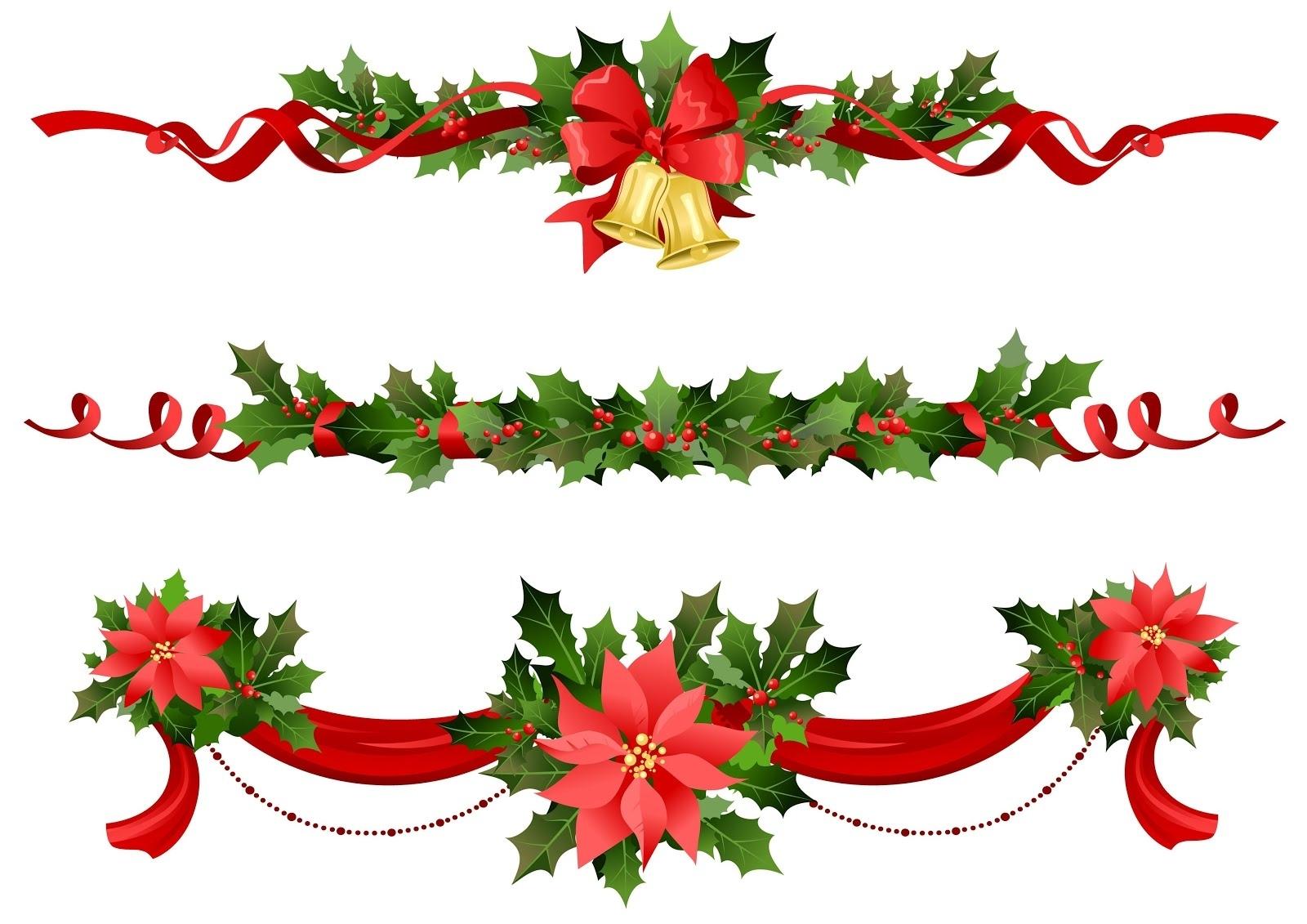 Guirnaldas y noche buena - Adornos de navidad en ingles ...