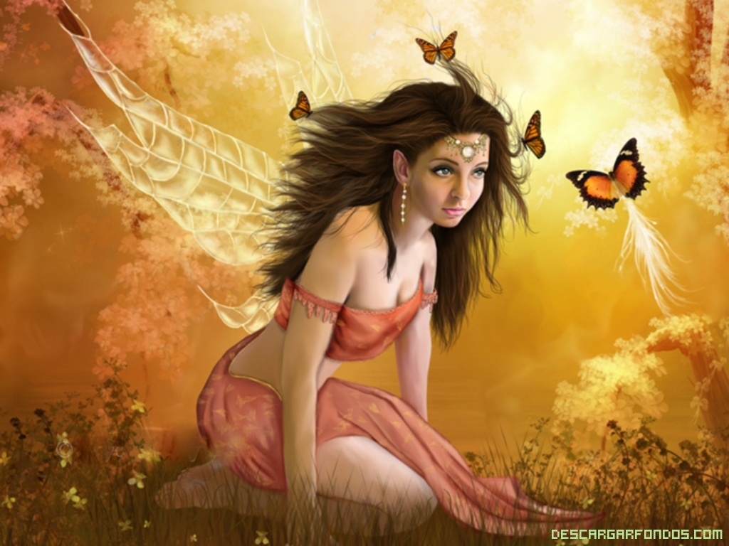 Hada con mariposas