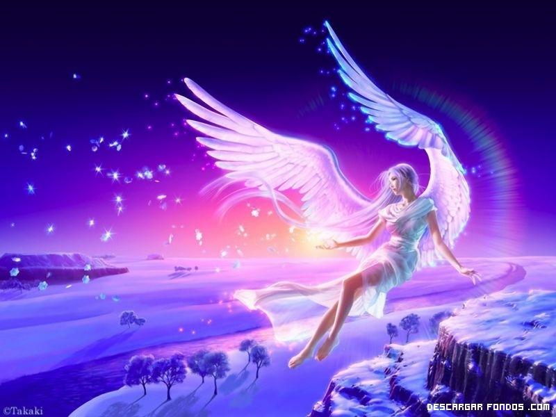 La niña ángel en la luna