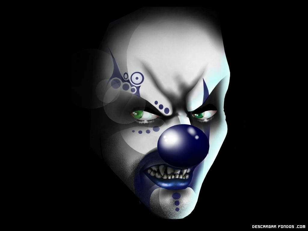 Payaso de nariz azul