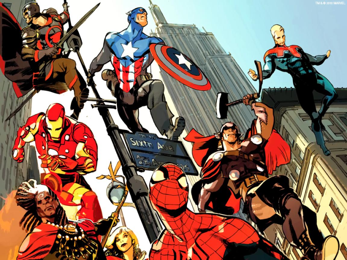 Superhéroes luchan juntos