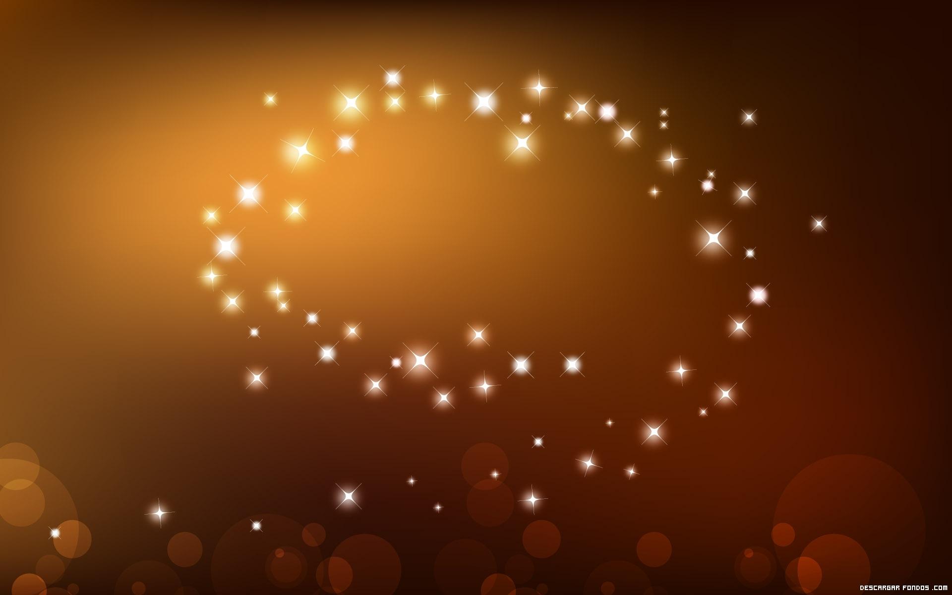 Una silueta de estrellas