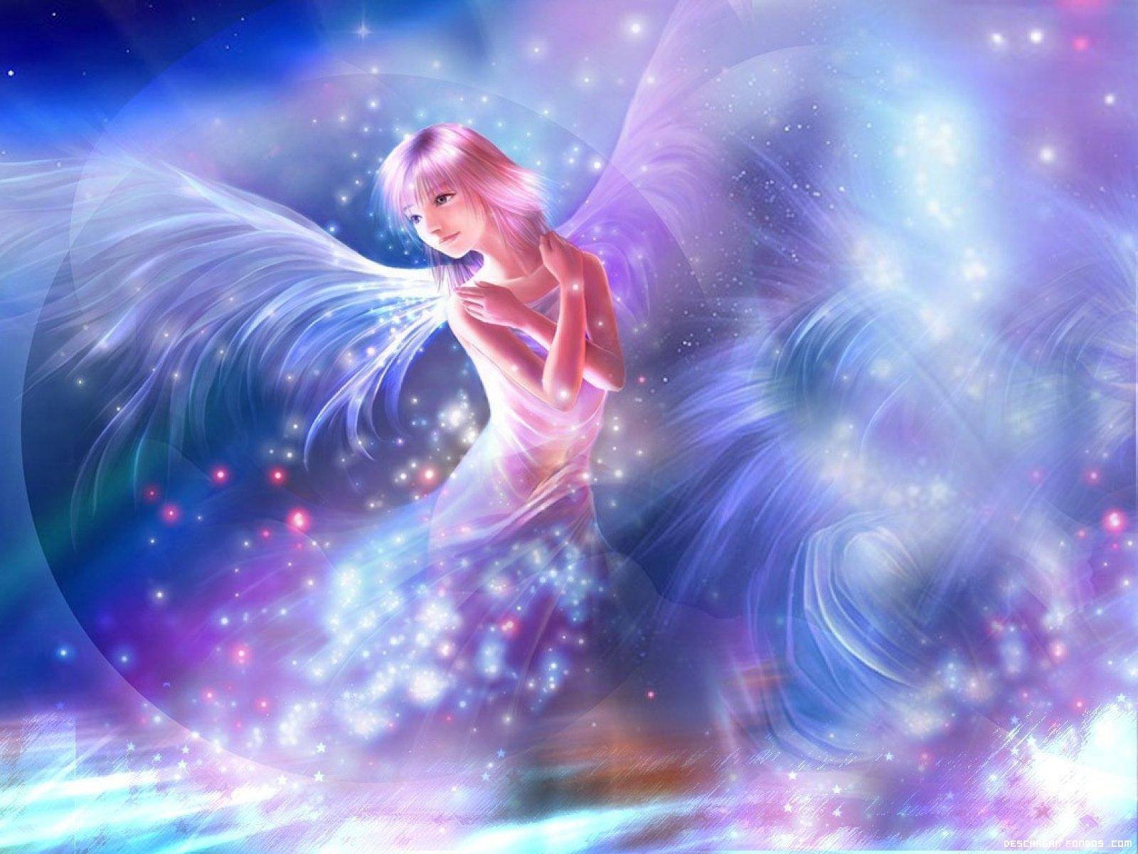Un ángel con destellos