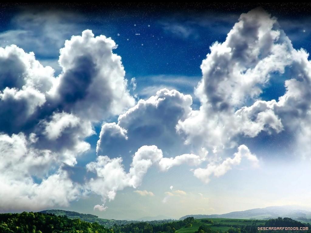 Cielo estrellado con Nubes