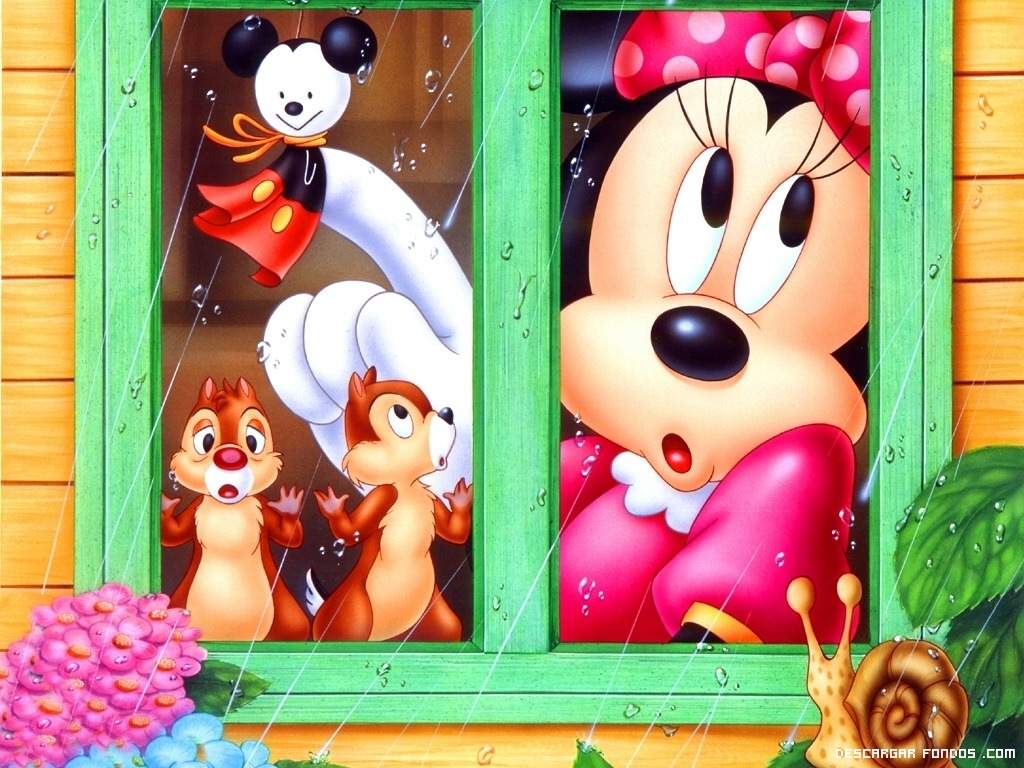 Minnie viendo la lluvia