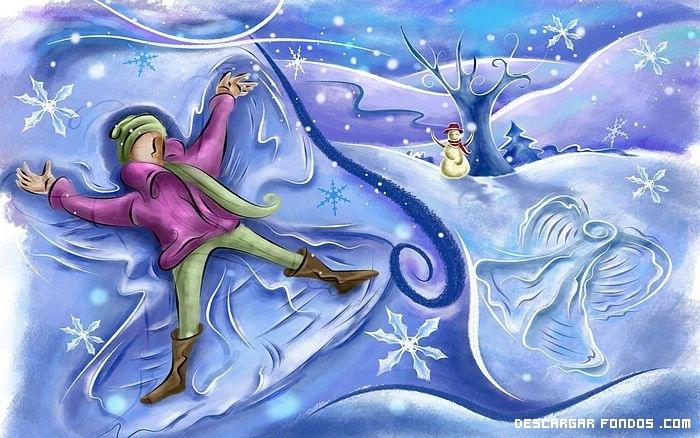 Navidad sobre la nieve