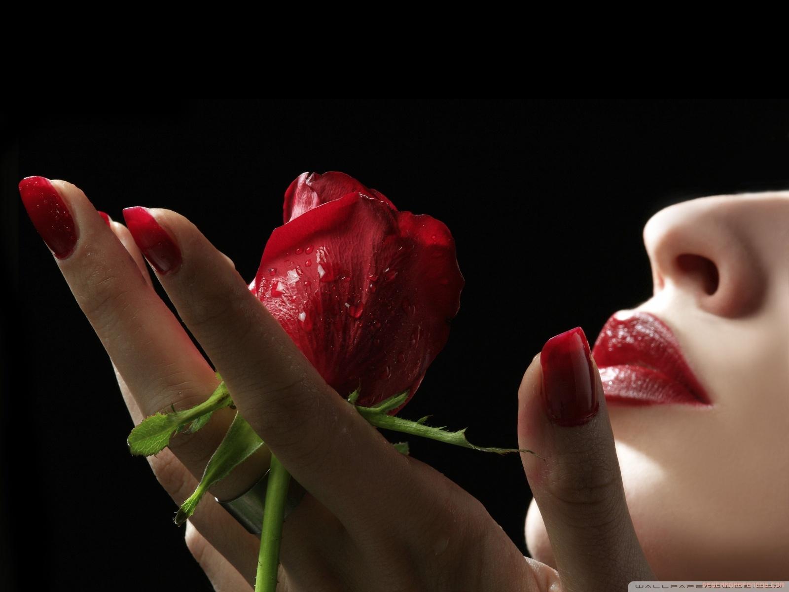 Unos labios y una rosa