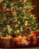 �rbol y regalos navideños