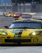 El gran coche de carreras Corvette