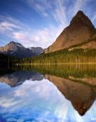 El lago y las montañas