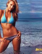 Jessica Alba en la playa.