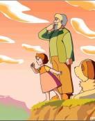 Heidi y su abuelo