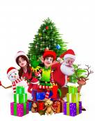 Santa Claus y su familia