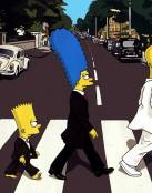 Los Simpsons en Abbey Road