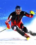 Un esquiador extremo
