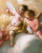 Una bella pintura de ángeles