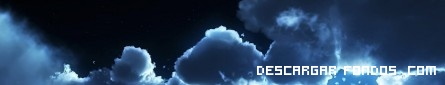Noche con nubes