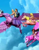 Barbie volando en Pegaso