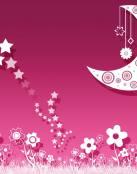Estrellas rosas en el cielo