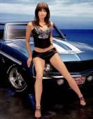 Ford Mustang con modelo