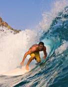 Surfista en el mar